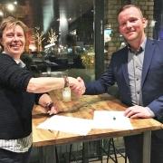 Adries Rotteveel (links) en Dennis de boer